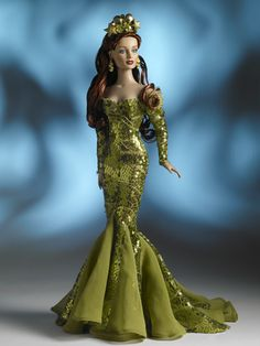 MERA™, Queen of Atlantis   Tonner Doll Company - DC Stars line - one of the rare open mouth dolls - from the 2008 collection - #TonnerDoll #FashionDolls