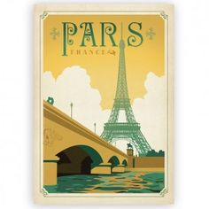 Paris Vintage Design Poster - Temple & Webster