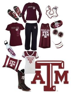 """""""Texas A&M"""" by brandi-lee445 ❤ liked on Polyvore featuring Russell Athletic"""