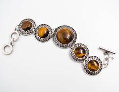 Tiger eye bracelet, stones bracelet, Romantic jewelry, Bohemian bracelet, Gifts for her, silver plated bracelet, safe bijoux, boho chic by wikandah on Etsy