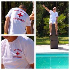 T-shirt bedrukt aan voor en achterkant voor Mas Caldes.