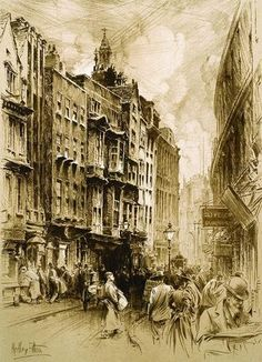 Hedley Fitton (1859-1929)    Holywell street