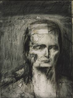 From ARoS Aarhus Art Museum, Frank Auerbach, Head of E. Charcoal, paper and watercolour on paper, × cm Frank Auerbach, Life Drawing, Painting & Drawing, Drawing Heads, Drawing Lessons, Figure Drawing, Royal College Of Art, Chiaroscuro, Art Database
