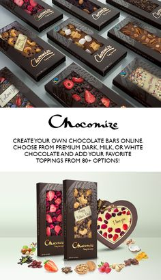 Discover unique corporate chocolate gifts that will wow your best clients, employees, and prospects. Chocolate Hearts, Chocolate Bark, Chocolate Gifts, Chocolate Truffles, Homemade Chocolate, Chocolate Lovers, Chocolate Shop, Custom Chocolate, Personalized Chocolate