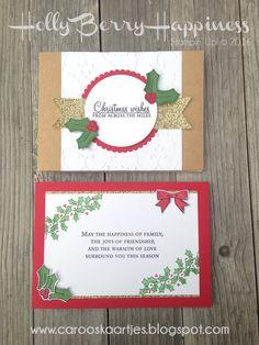 Stampin' Up! Holly Berry Happiness, kerstkaart, kerst, stempelen, kaarten maken