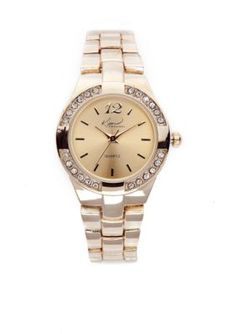 Kim Rogers  Womens Gold Bracelet Watch