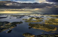 Aerial photo over the magical archipelago