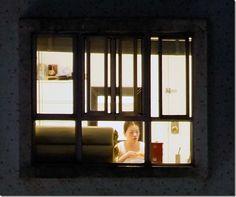 Slice of life through a night-time window, via Michael Wolf....
