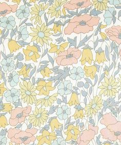"Liberty Art Fabrics. Poppy and Daisy. This looks so much like my daughter's first ""big girl"" bed bedding fabric...23 yrs ago."