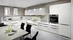 Nobilia Handleless Kitchens are modern and sleek Nobilia Kitchen, Ivory Kitchen, Kitchen Cabinets, High Gloss Kitchen, Handleless Kitchen, German Kitchen, Contemporary Kitchens, Modern Kitchens, Traditional