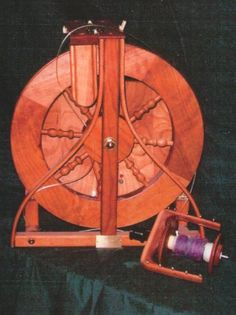 Beautiful small spinning wheel. Robin Spinning Wheels.