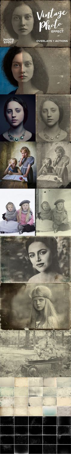 Vintage Old Photo Effect Overlays - Photo Effects Actions