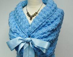 Ivory Bridal Shawl Wedding Wrap Bridal Cover Up by HandmadeLaremi