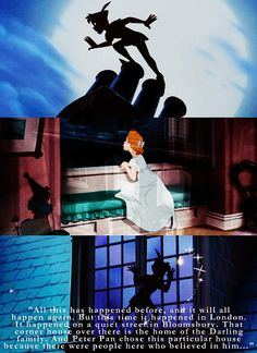 """And Peter Pan chose this particular house because there were people here who believed in him..."" <3"