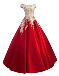 442494e8268 Meilishuo Womens Off the Shoulder Applqiue Quinceanera Ball Gowns Princess  Lace Prom Dress for Evening Parties