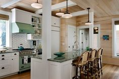 Wharf House - beach style - kitchen - portland maine - Wright-Ryan Homes