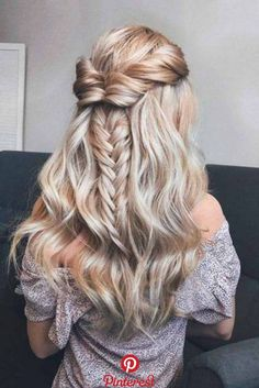 Half Up Half Down Prom Hairstyles Youll Fall In Love With ★ See more: lovehair.Half Up Half Down Prom Hairstyles Youll Fall In Love With ★ See more: lovehair. Prom Hairstyles, Best Wedding Hairstyles, Down Hairstyles, Pretty Hairstyles, Braided Hairstyles, Homecoming Hairstyles Down, Hairstyles Videos, Medium Hairstyles, Half Up Half Down Hair Prom