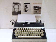 ★★Schreibmaschine in dunkelblau/grau ★★ von alpenrose auf DaWanda.com
