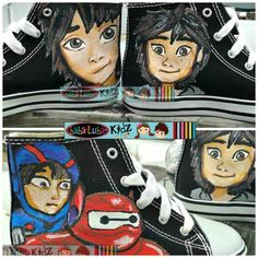 BOYS OR GIRLS Let me paint your canvas shoes   by Babalubakidz