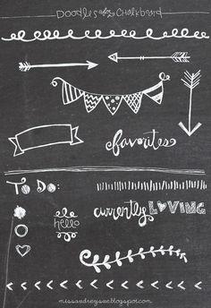 FREEBIE: doodles for a chalkboard