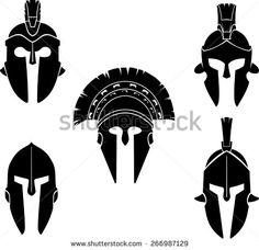 Spartan Helmet Silhouette Set