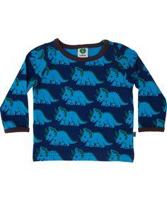 Småfolk exciting blue baby dino T-shirt