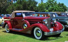 1933 Cadillac V16 Convertible - red - fvr