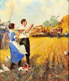 "Farm Blessings~""Old Fashion Vintage Farmer's Wife""~Calling Farmhands For Pie"