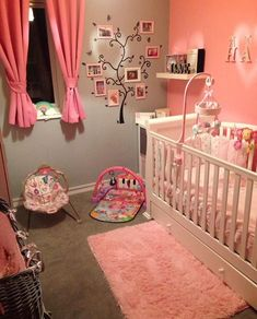 Get inspired to prepare and create the perfect room for your baby girl. These baby girl nursery ideas can help you create a cute girly room style. Baby Bedroom, Baby Room Decor, Nursery Room, Girl Nursery, Girls Bedroom, Room Baby, Baby Nursery Ideas For Girl, Baby Girl Room Themes, Princess Nursery