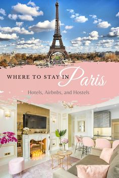 Traveling to Paris soon? Don't break the bank trying to get super close to the Eiffel tower. You can find the best places to stay in Paris here (with links)! Everything from hotels, airbnb, and of course hostels!
