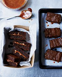 These best-ever brownies are filled with oozy, sweet salted caramel. Get the recipe from Food & Wine.