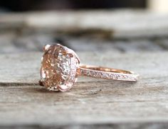 ON HOLD Certified 4.0 Ct. Oval Peach Champagne por Studio1040
