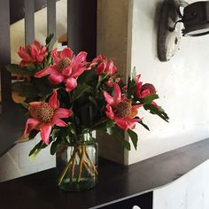 Pink Waratahs | MyFlowerMan | Automata Restaurant | Sydney | Interiors | Flowers | www.myflowerman.com.au