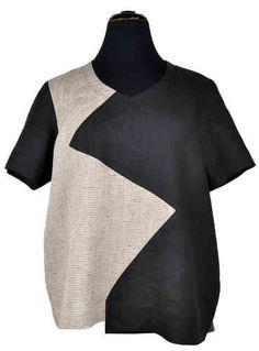 Das Nusakan Hemd ist ein locker geschnittenes Hemd mit einer schmückenden Zick-Zack Naht im Vorderteil und kurzen Ärmeln. Am besten zu nähen aus leichten Sommerstoffen wie Leinen oder Baumwolle.