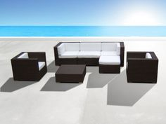 Outdoor Patio Wicker Furniture All Weather 7pc Vila Deep Seating New Sectional Sofa Set $1,299.00