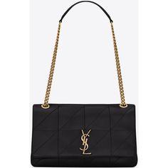Saint Laurent Medium Jamie Bag ($2,545) ❤ liked on Polyvore featuring bags, handbags, shoulder bags, white handbag, flap purse, yves saint laurent purse, chain purse and yves saint laurent shoulder bag