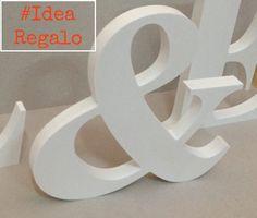 Letras decorativas blancas: Idea regalo por LETRASSIMBOLOSYMAS