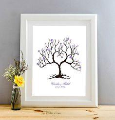Svatební strom, dřevěný rám, formát A3, 2 barvy