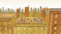 "Sketch plan illustration of final animated scene in ""realize birds"" animation. http://dbd15.com"