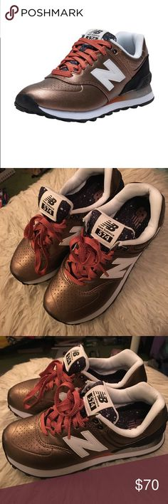 NWOT New Balance 574 These shoes are in perfect condition and have never been worn!! A super cute wardrobe staple that's super comfy and well as fashionable New Balance Shoes Sneakers