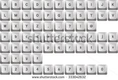 Find White Keyboard Buttons Letters stock images in HD and millions of other royalty-free stock photos, illustrations and vectors in the Shutterstock collection. Keyboard Keys, Computer Keyboard, Button Letters, Royalty Free Stock Photos, Buttons, Computer Keypad, Keyboard, Plugs