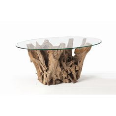 ARTERIORS Home Kingston Driftwood Oval Cocktail Table in Distressed Natural Brown #Wayfair