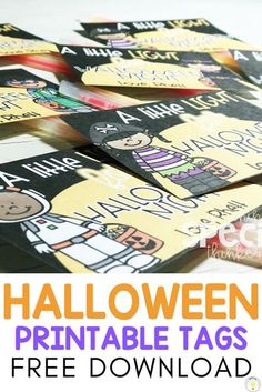 Need Halloween activities for the classroom? This post is packed with easy crafts for kids to make, sensory bins, fine motor tasks, games, picture books, and includes free printable downloads for student or teacher gift treat tags. Incorporate these ideas for the month of October, for a class party, or at home with your own kids. Great for toddlers, preschool, or kindergarten age students! #halloweenactivities #halloweencrafts