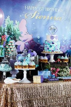 Under the Sea Birthday Party via Kara's Party Ideas - Mesmerising Displays