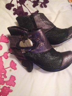 Irregular Choice Mirror Mirror Ankle Boots Bid + £6.19 Postage ends 15 March