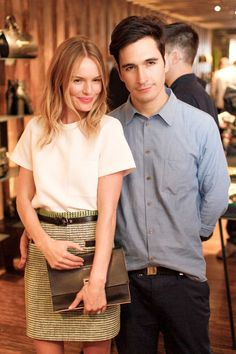 Kate Bosworth's in preppy style with t-shirt