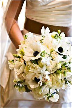 Black & White Anemone Bouquet