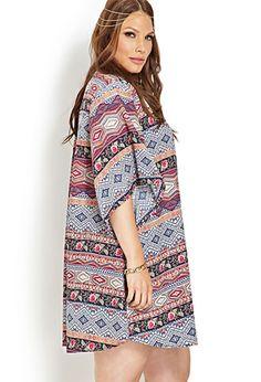 Boho Floral Woven Kimono | FOREVER21 PLUS - 2000107718