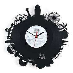 """RE_VINYL wall clock """"LOS ANGELES"""""""
