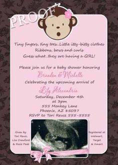 72 Best Lil Monkey Girl Theme Baby Shower Images Monkey Girl